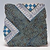 blue &white chequer board